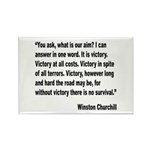 Churchill Victory Quote Rectangle Magnet (10 pack)