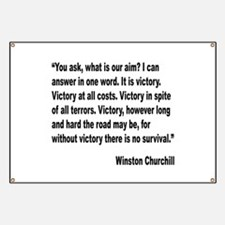 Churchill Victory Quote Banner