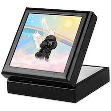 Angel /Poodle (blk Toy/Min) Keepsake Box