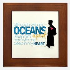 (Navy) Oceans Apart Framed Tile