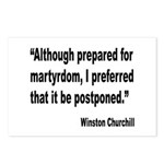 Churchill Martyrdom Quote Postcards (Package of 8)
