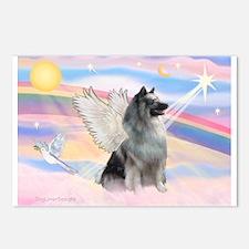 Angel/Keeshond Postcards (Package of 8)