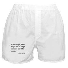Churchill Necessary Success Quote Boxer Shorts