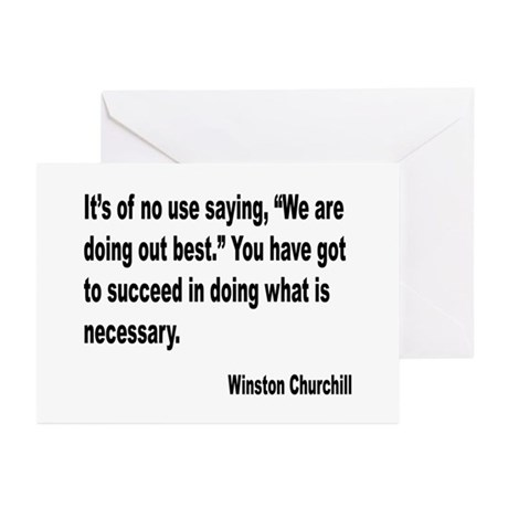 Churchill Necessary Success Quote Greeting Cards (