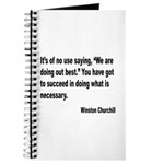 Churchill Necessary Success Quote Journal