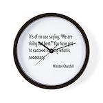 Churchill Necessary Success Quote Wall Clock