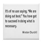 Churchill Necessary Success Quote Tile Coaster