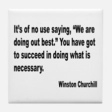 Churchill Necessary Success Quote Tile Coaster