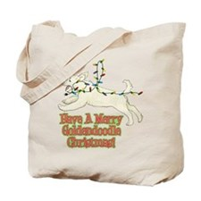 Christmas Goldendoodle Tote Bag