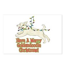 Christmas Goldendoodle Postcards (Package of 8)
