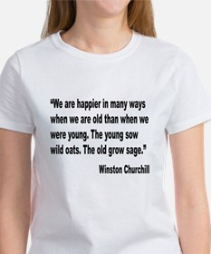 Churchill Happy Old Quote Women's T-Shirt