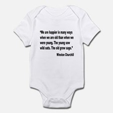 Churchill Happy Old Quote Infant Bodysuit
