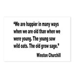 Churchill Happy Old Quote Postcards (Package of 8)