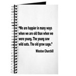 Churchill Happy Old Quote Journal