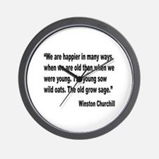 Churchill Happy Old Quote Wall Clock