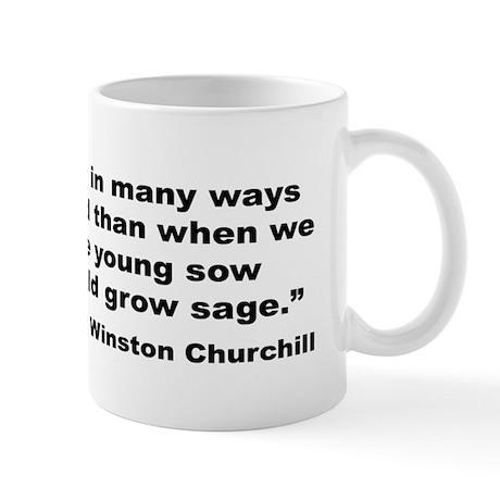 Churchill Happy Old Quote Mug