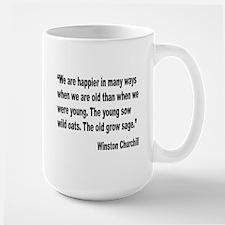 Churchill Happy Old Quote Large Mug