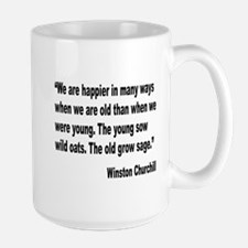 Churchill Happy Old Quote Mug