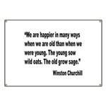 Churchill Happy Old Quote Banner
