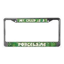 My Kid Porcelaine License Plate Frame