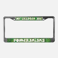 My Children Pomeranian License Plate Frame
