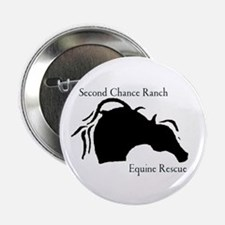 """Cute Rescued horses 2.25"""" Button (10 pack)"""