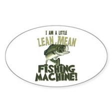 Lean Mean Fishing Machine Oval Decal