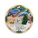 XmasMagic-Maltese #11 Ornament (Round)