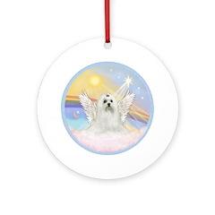 Clouds - Maltese Angel Dog Ornament (Round)