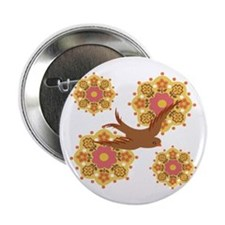 "Flower power - 2.25"" Button"