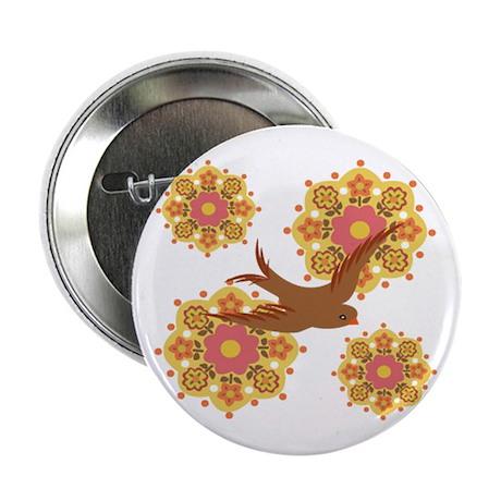"Flower power - 2.25"" Button"