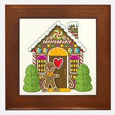 Gingerbread House Framed Tile