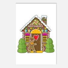 Gingerbread House Postcards (Package of 8)