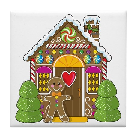 Gingerbread House Tile Coaster