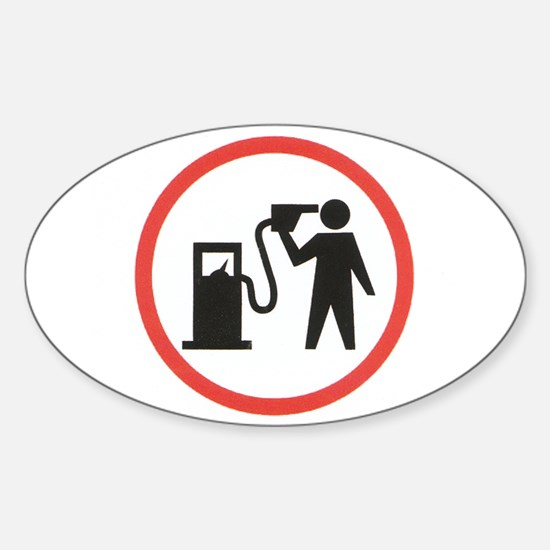 Banksy I Hate Gasoline Oval Decal