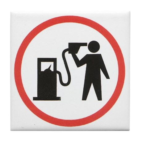Banksy I Hate Gasoline Tile Coaster