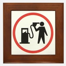 Banksy I Hate Gasoline Framed Tile