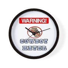 Warning! Cowboy Hater Wall Clock