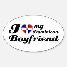 I love my peruvian Girlfriend Oval Decal