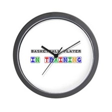 Basketball Player In Training Wall Clock