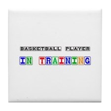 Basketball Player In Training Tile Coaster