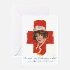 French Nurse Angel Greeting Card