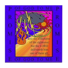 PSALMS 34:19 Tile Coaster