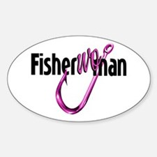FisherWoman Oval Decal
