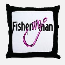 FisherWoman Throw Pillow