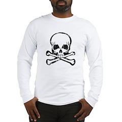 Worn Skull and Crossbones Long Sleeve T-Shirt