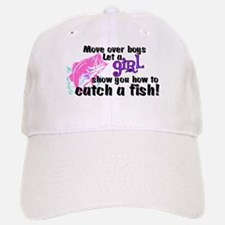 Move Over Boys - Fish Baseball Baseball Cap