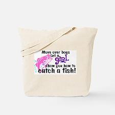 Move Over Boys - Fish Tote Bag