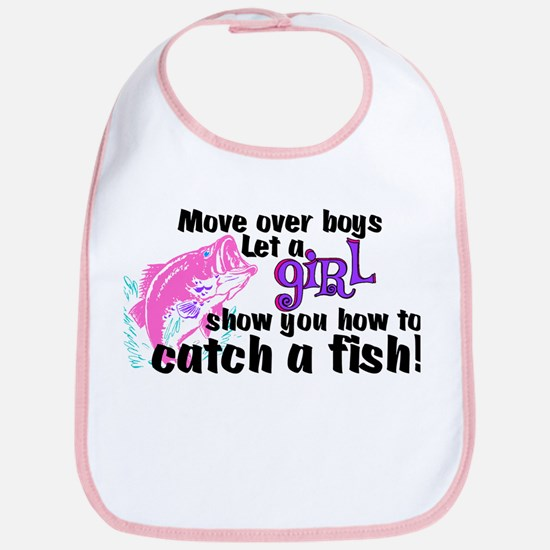 Move Over Boys - Fish Bib