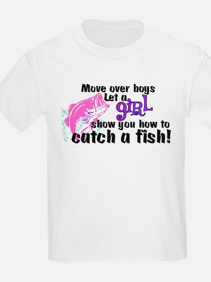 Move Over Boys - Fish T-Shirt
